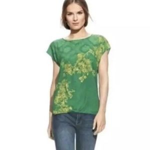 CAbi #597 Green with Envy blouse
